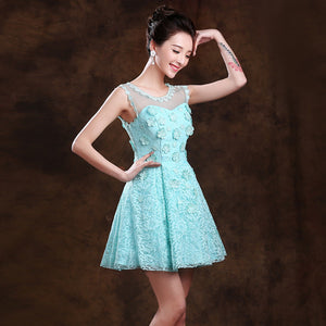 Annual fall/winter evening dress bride and the new 2015 short green bridesmaid dresses female sisters dress engagement SK2028 1924745