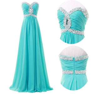 Stock A-line sweetheart elegant off-shoulder Sleeveless Formal Party Gowns Chiffon long evening dress CL4413 142212458
