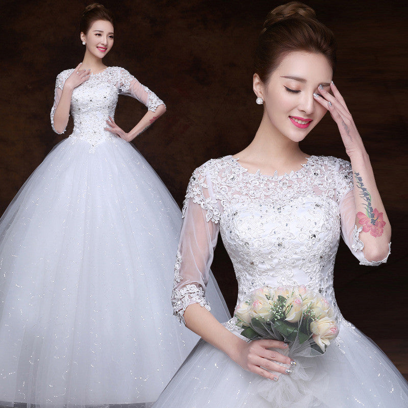 Ball Gown Wedding Dresses 3/4 Sleeves Wedding dress Gowns For Pregnant Bride Dress 5624878