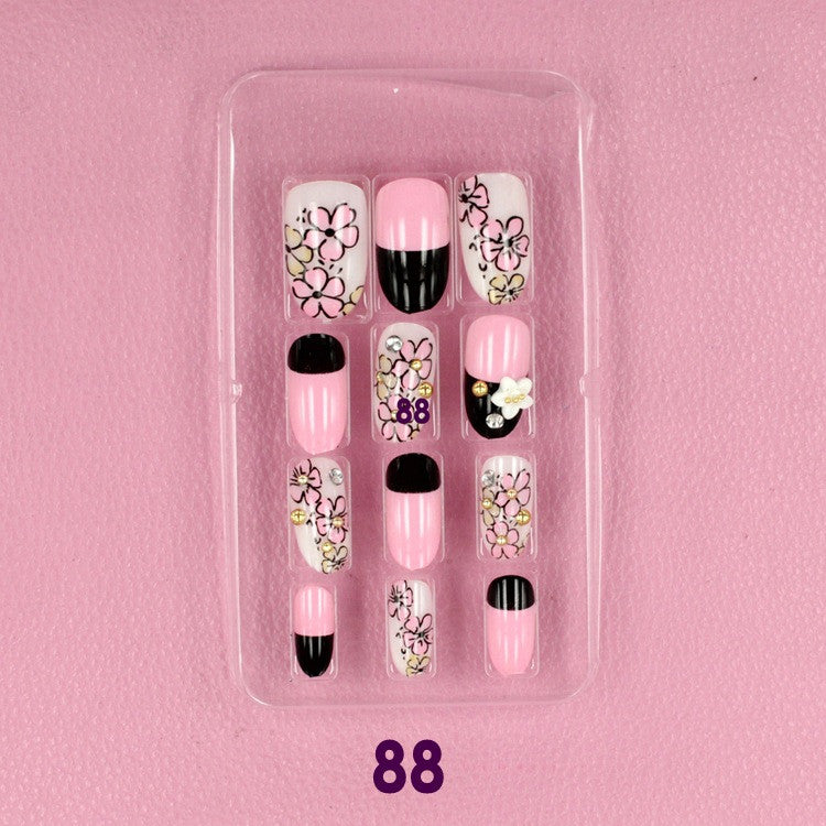 Flower 3D carved Manicure tablets False nail diamond Bride Manicure tablets nail stickers bradawl nail painting 88#