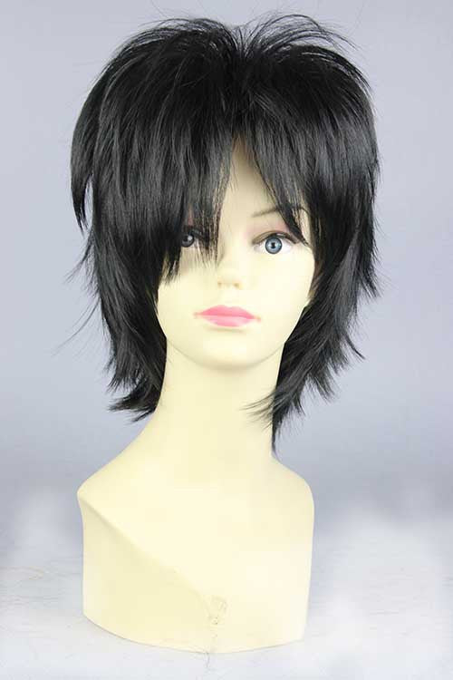 Black short straight anime Cosplay arcana famiglia Luca wig Men Popular Cartoon Movie Big Hero 6 Hiro Hamada Cosplay Wig KW-216F