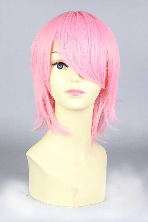 Hot Fashion Women's Heat Resistant Short Pink BOB 32cm Men Women Party Cosplay Hair Full Wig Wigs KW-263A