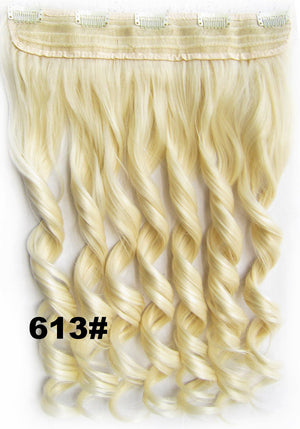 Bath&Beauty Clip in synthetic hair extension hairpieces 5 clips in on wavy slice curly hairpiece GS-888 613#,Hair Care,fashion COSPLAY ombre 1PCS