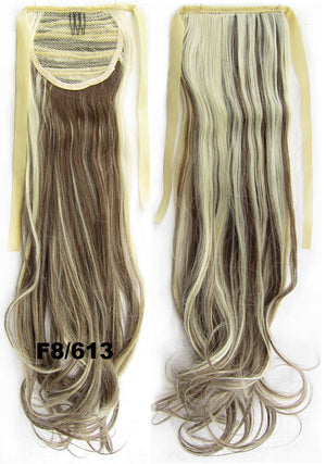 Ribbon Ponytail,wavy Curly hair,Wig Hairpiece,synthetic hair wig,woman wigs,wig hairs,Accessories,High-temperature wire RP-888 F8/613