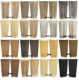 Candy colors Straight hair 5 Clip-in Marley Braid Hair European And American Hot Wigs Wholesale Hair Color Piece hairpieces New Fashion Women wig Bath & Beauty Ombre Hair Extensions Colorful Hairpieces GS-666 25#