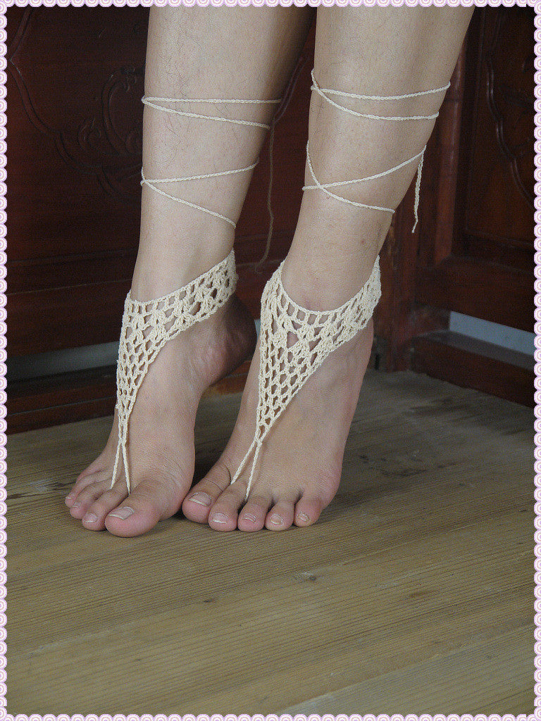 rope barefoot wear crochet handmade shoes envy deal sexy anklet yoga pool brides products sandals woven hippy beach