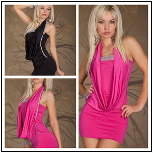 Flapper dress sexy lingerie dress Europe and the United States style short skirt clubwear dress columbia women N085-Rose Red