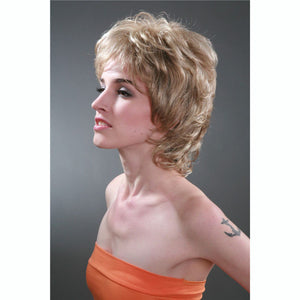 Super New Short Designer Style healthy hair wig wigs New Blonde Short Curly women High quality Everyday Hair W2081
