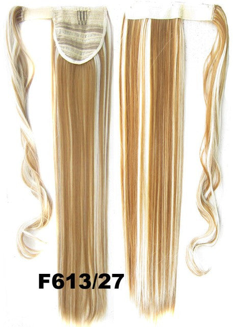 Velcro Wrap Ponytail Hair Extension,Ponytail with band,Ribbon Ponytail,Straight hair,Wig Hairpiece,synthetic hair wig,woman wigs,wig hairs,Bath & Beauty,Accessories BIP-666 F613/27
