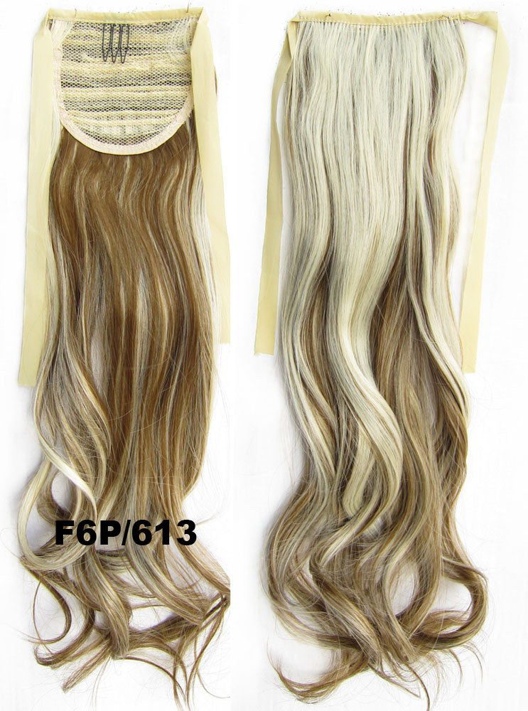 Ribbon Ponytail,wavy Kinky Curly hair,Wig Hairpiece,synthetic hair wig,woman wigs,wig hairs,Accessories,High-temperature wire RP-888 F6P/613