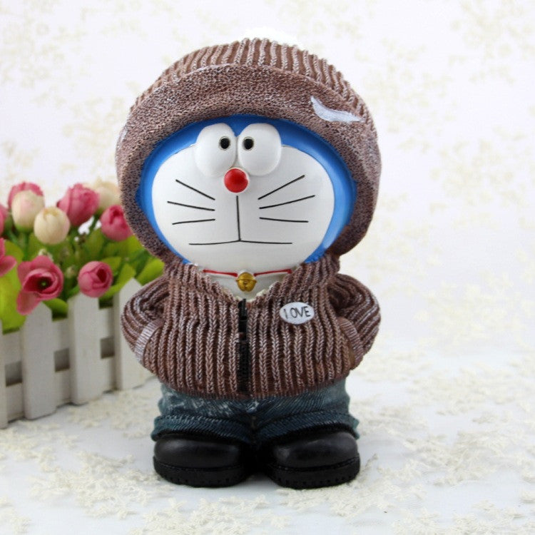 Creative cute piggy bank doraemon jingle cat money box doraemon Christmas female boyfriend A gift LA034