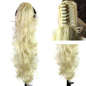 European and American fashion lady horse hair claw clip curly hair female 	PT020B