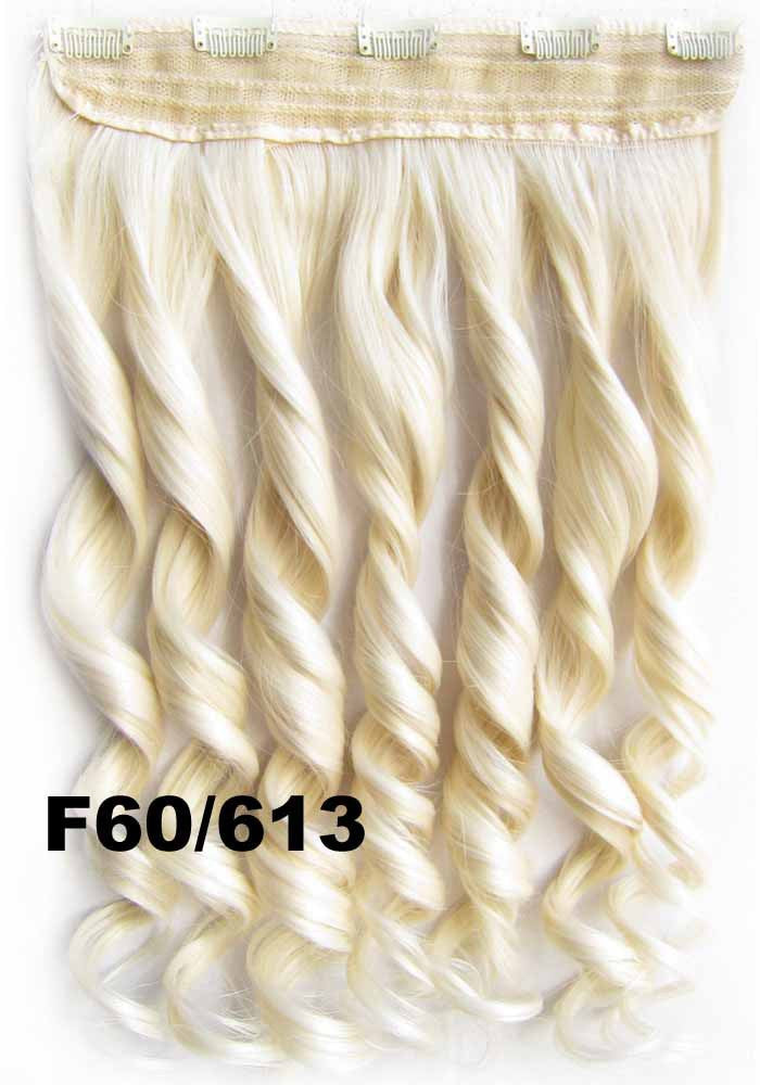 Bath&Beauty Clip in synthetic hair extension hairpieces 5 clips in on wavy slice curly hairpiece GS-888 F60/613,Hair Care,fashion COSPLAY ombre 1PCS