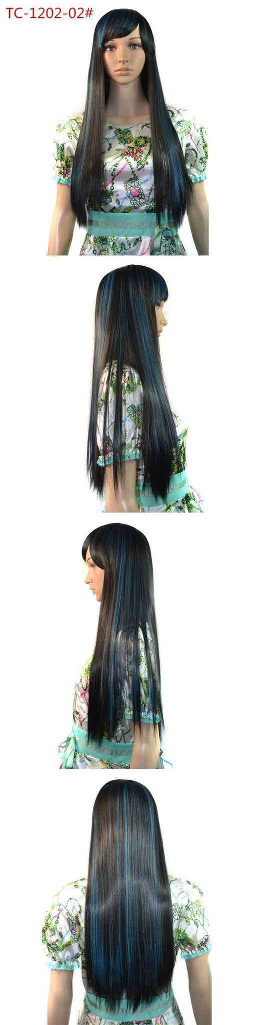 Princess Cosplay Wig TC-1202-02# heat resistant synthetic long hair 55--65cm beauty girl Cosplay wig