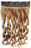 Bath&Beauty Clip in synthetic hair extension hairpieces 5 clips in on wavy slice curly hairpiece GS-888 27#,Hair Care,fashion COSPLAY ombre 1PCS