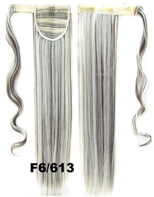 Hot sell European fashion style clip in on Velcro wrap straight hair ponytail invisable hairpieces,Hair Extension,Ponytail with band,Ribbon Ponytail,Wig Hairpiece,synthetic hair wig,woman wigs,wig hairs,Bath & Beauty,Accessories BIP-666 F6/613