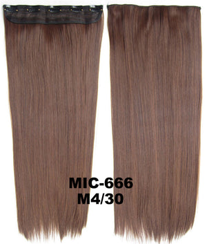 "Wig,Hair Extension,Clip in synthetic hair extension,5 clips ponytail,Heat resistance synthetic fibre,MIC-666 M4/30,100 g 24 "" 1PCS"