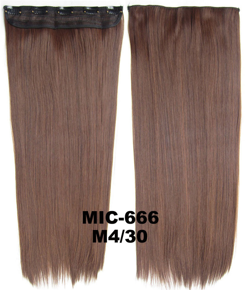 Wig,Hair Extension,Clip in synthetic hair extension,5 clips ponytail,Heat resistance synthetic fibre,MIC-666 M4/30,100 g 24