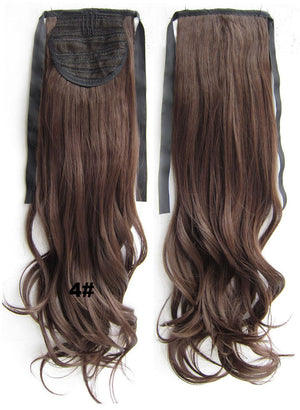 4# Curly hair,wavy Wig Hairpiece,Ribbon Ponytail,synthetic hair wig,womanwigs,wig hairs,Accessories,High-temperature wire RP-888
