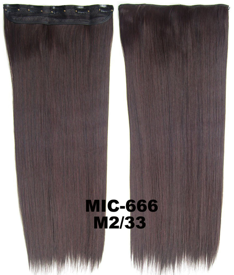 Wig,Hair Extension,Clip in synthetic hair extension,5 clips ponytail,Heat resistance synthetic fibre,MIC-666 M2/33,100 g 24