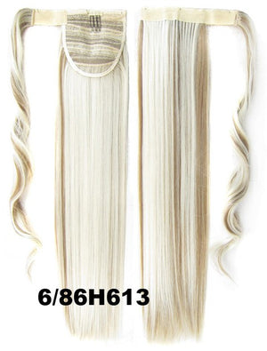 Velcro Wrap Ponytail Hair Extension,Ponytail with band,Ribbon Ponytail,Straight hair,Wig Hairpiece,synthetic hair wig,woman wigs,wig hairs,Bath & Beauty,Accessories BIP-666 6/86H613