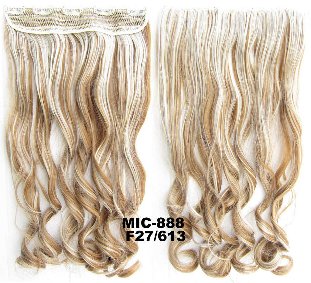 Bath & Beauty 5 Clip in synthetic hair extension hairpieces wavy slice curly hairpiece MIC-888 F27/613,Hair Care,fashion Cosplay ombre 1PCS