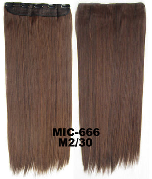 "Wig,Hair Extension,Clip in synthetic hair extension,5 clips ponytail,Heat resistance synthetic fibre,MIC-666 M2/30,100 g 24 "" 1PCS"