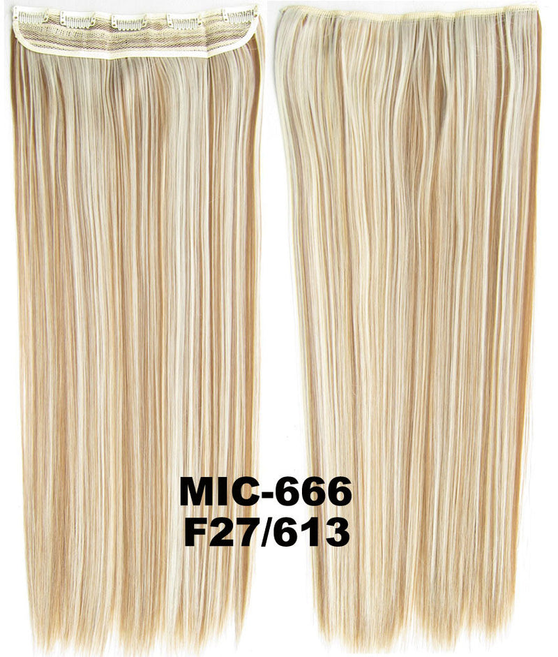 Wig,Hair Extension,Clip in synthetic hair extension,5 clips ponytail,Heat resistance synthetic fibre,MIC-666 F27/613,100 g 24