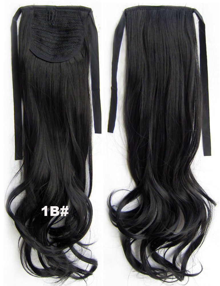 1B# Curly hair,wavy Wig Hairpiece,Ribbon Ponytail,synthetic hair wig,woman wigs,wig hairs,Accessories,High-temperature wire RP-888