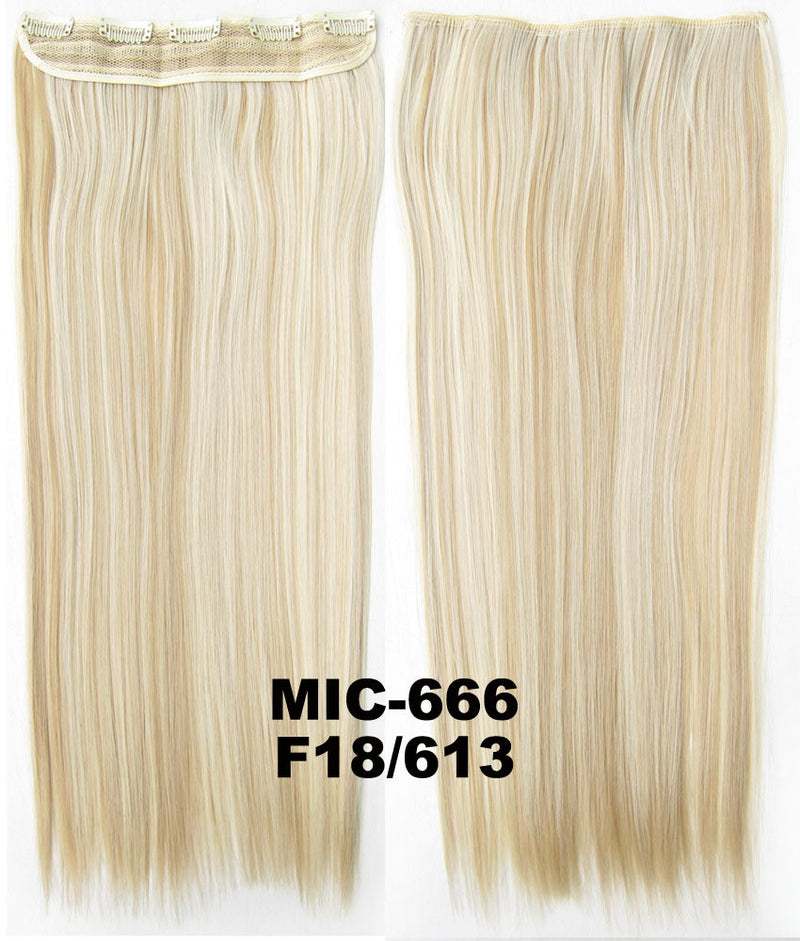 Wig,Hair Extension,Clip in synthetic hair extension,5 clips ponytail,Heat resistance synthetic fibre,MIC-666 F18/613,100 g 24