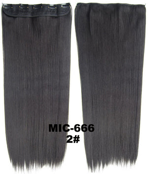 "Hair Extension,wig,Clip in synthetic hair extension,5 clips ponytail,Heat resistance synthetic fibre,MIC-666 2#, 100 g 24 "" 1PCS"