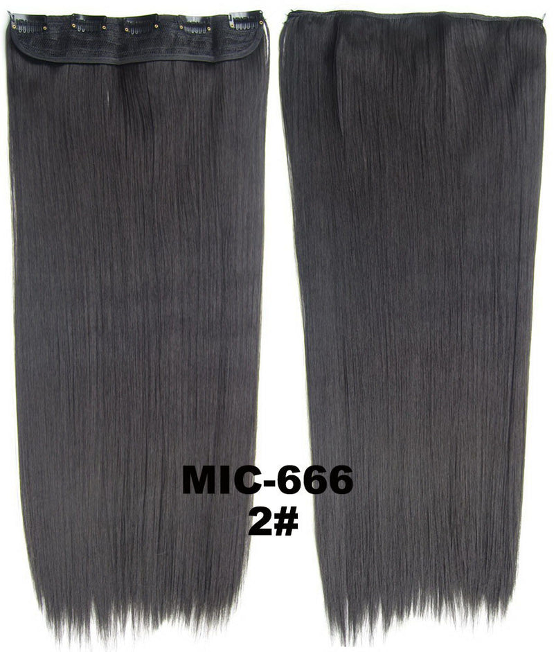 Hair Extension,wig,Clip in synthetic hair extension,5 clips ponytail,Heat resistance synthetic fibre,MIC-666 2#, 100 g 24