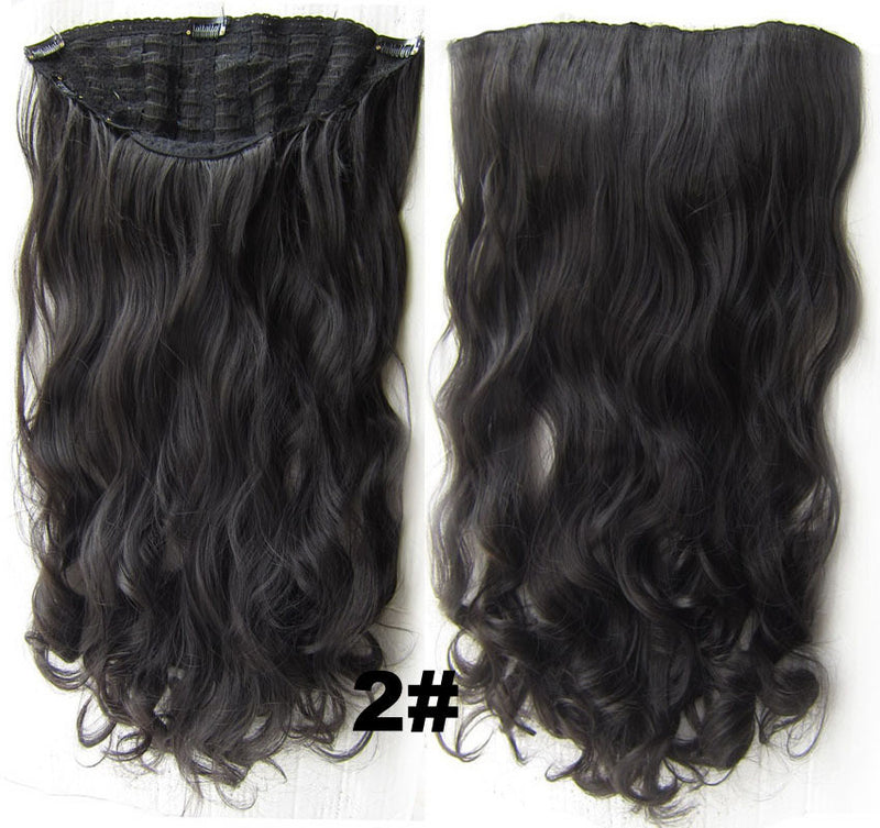 Bath & Beauty 7 Clip in Elastic Cap Wig Curly hair synthetic hair extension hairpieces wavy slice curly hairpiece SCH-888 2#,Hair Care,fashion Cosplay ombre 1PCS
