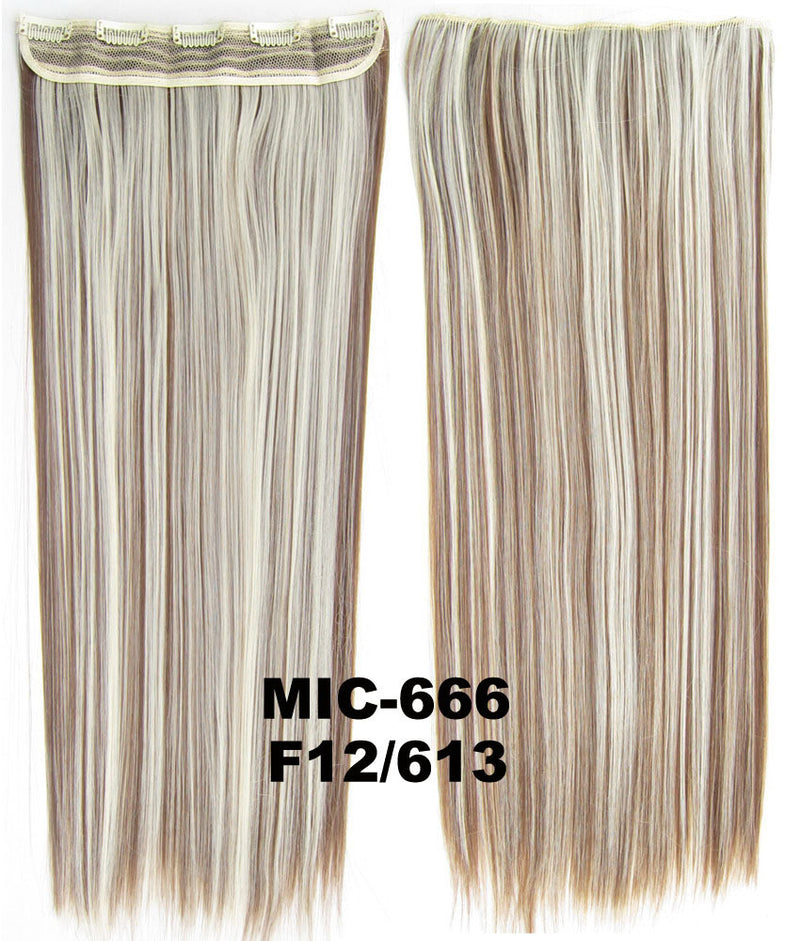 Wig,Hair Extension,Clip in synthetic hair extension,5 clips ponytail,Heat resistance synthetic fibre,MIC-666 F12/613,100 g 24