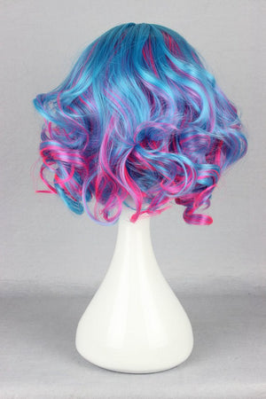 30cm short Cosplay anime wig multi color multi color wig cosplay anime wig,Colorful Candy Colored synthetic Hair Extension Hair piece 1pcs CodeGeass-Nunnally Vi Britannia WIG-476A