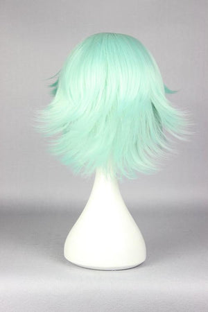 30cm short ice green cosplay wig cheap price online wholesale fashion style Yuri Kuma Arashi-Life Beauty anime cosplay wig,Colorful Candy Colored synthetic Hair Extension Hair piece 1pcs WIG-576F