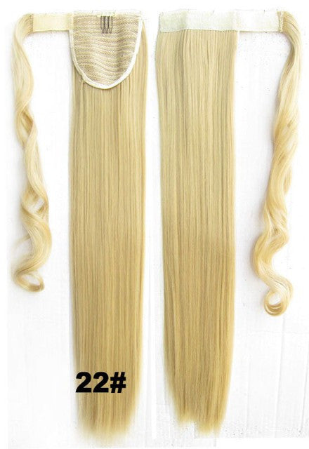 Velcro Wrap Ponytail Hair Extension,Ponytail with band,Ribbon Ponytail,Straight hair,Wig Hairpiece,synthetic hair wig,woman wigs,wig hairs,Bath & Beauty,Accessories BIP-666 22#