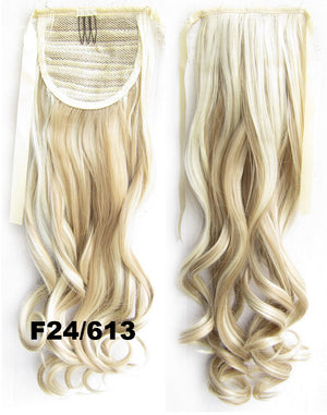 Curly synthetic hair extension,Ribbon ponytail synthetic hair extension Clip In on Hair Pony,Wavy Hairpiece,woman wigs,wig hairs,Accessories,Bath & Beauty RP-888 F24/613