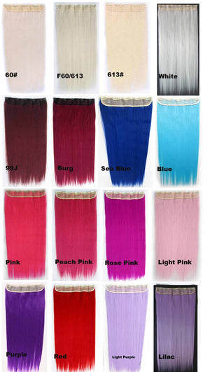 16 Candy colors Straight hair 5 Clip-in Marley Braid Hair European And American Hot Wigs Wholesale Hair Color Piece hairpieces New Fashion Women wig Bath & Beauty Ombre Hair Extensions Colorful Hairpieces GS-666,1PCS