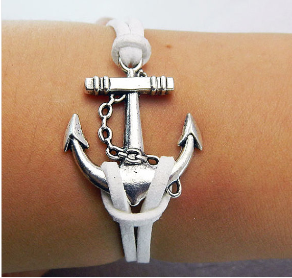 Anchor Arrow Love Bracelet,Bracelets,Hipsters jewelry,Bracelet,braided bracelet,Couples bracelet,lover bracelets,bangle bracelet,,leather bracelet,charm bracelet,White braided bracelet