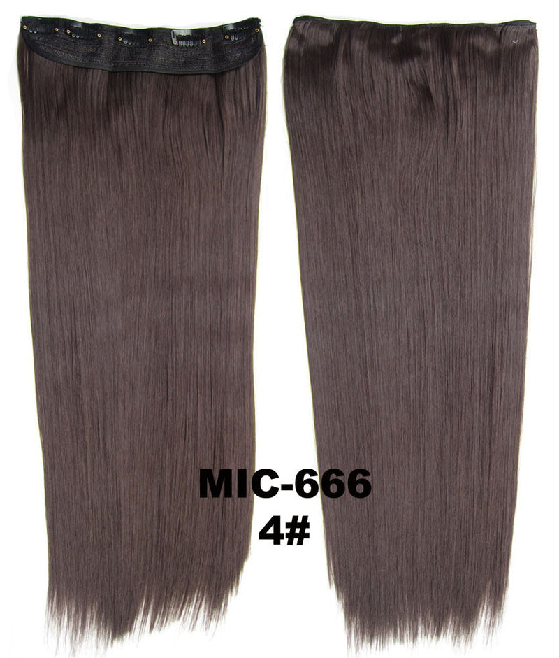 Hair Extension,wig,Clip in synthetic hair extension,5 clips ponytail,Heat resistance synthetic fibre,MIC-666 4#, 100 g 24