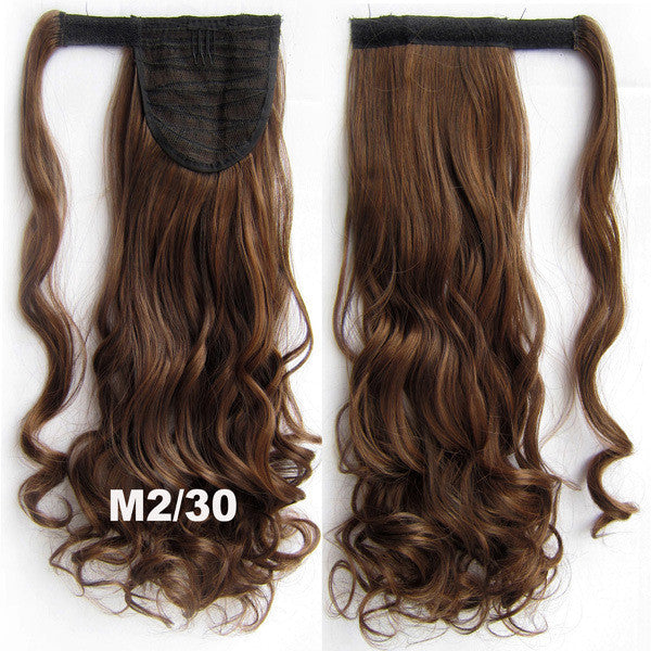 Ponytail Hair Extension Heat Proof Synthetic Wrap Around Invisable