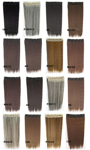 Candy colors Straight hair 5 Clip-in Marley Braid Hair European And American Hot Wigs Wholesale Hair Color Piece hairpieces New Fashion Women wig Bath & Beauty Ombre Hair Extensions Colorful Hairpieces GS-666 22#
