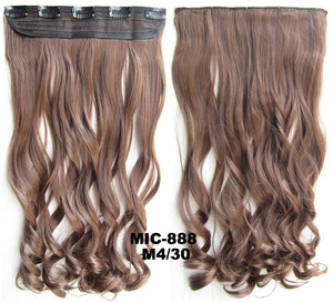 Bath & Beauty 5 Clip in synthetic hair extension hairpieces wavy slice curly hairpiece MIC-888 M4/30,Hair Care,fashion Cosplay ombre 1PCS