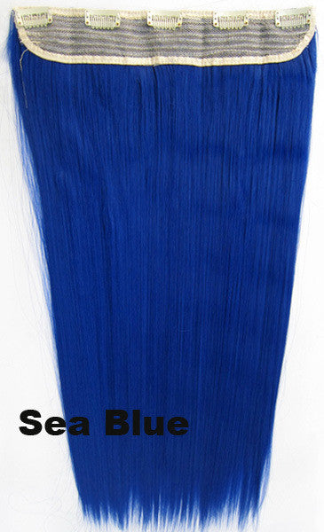 Candy colors Straight hair 5 Clip-in Marley Braid Hair European And American Hot Wigs Wholesale Hair Color Piece hairpieces New Fashion Women wig Bath & Beauty Ombre Hair Extensions Colorful Hairpieces GS-666 Sea Blue