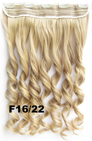 Clip in synthetic hair extension hairpieces 5 clips in on wavy slice hairpiece GS-888 F16/22,60cm,130grams,16 colors available 1pcs