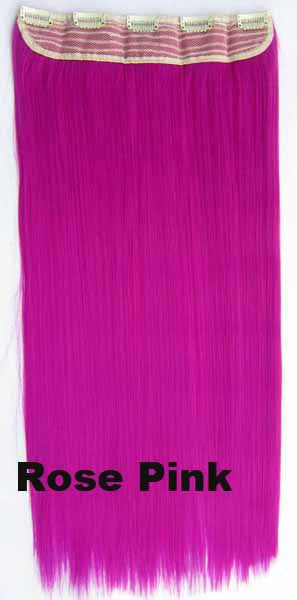 Candy colors Straight hair 5 Clip-in Marley Braid Hair European And American Hot Wigs Wholesale Hair Color Piece hairpieces New Fashion Women wig Bath & Beauty Ombre Hair Extensions Colorful Hairpieces GS-666 Rose Pink