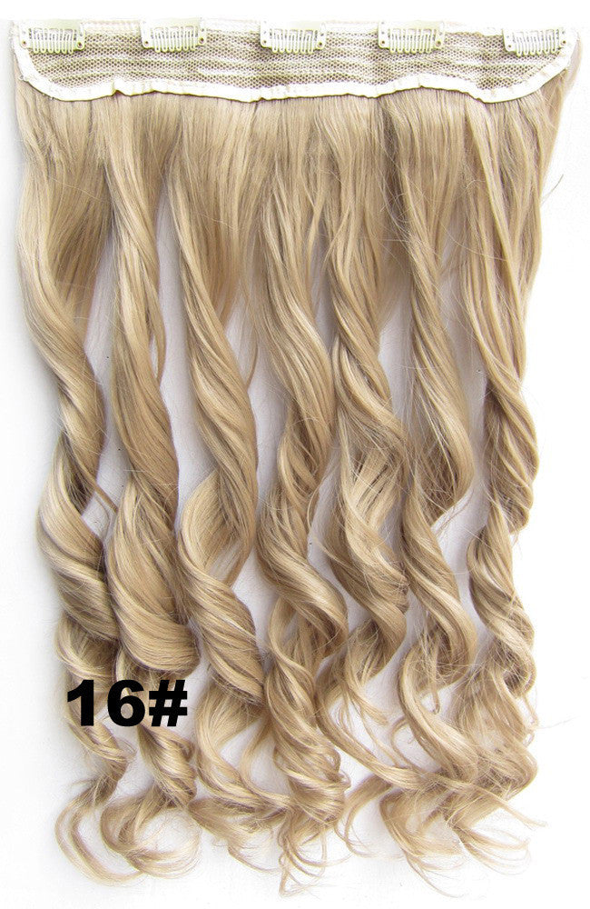 Clip in synthetic hair extension hairpieces 5 clips in on wavy slice hairpiece GS-888 16#,60cm,130grams,16 colors available 1pcs