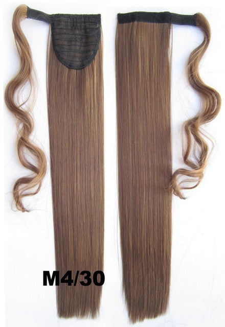 Velcro Wrap Ponytail Hair Extension,Ponytail with band,Ribbon Ponytail,Straight hair,Wig Hairpiece,synthetic hair wig,woman wigs,wig hairs,Bath & Beauty,Accessories BIP-666 M4/30