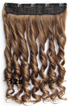 Clip in synthetic hair extension hairpieces 5 clips in on wavy slice hairpiece GS-888 12#,60cm,130grams,16 colors available 1pcs